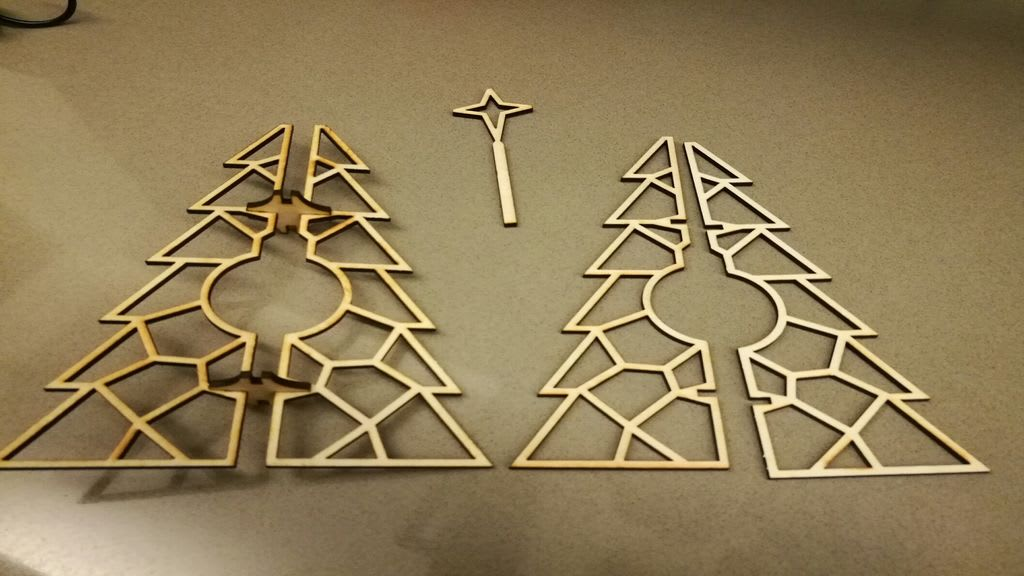 AutoCAD Tree Holiday Decorations Cut Out