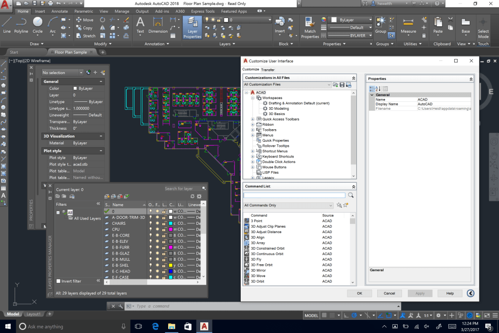 What's New in AutoCAD 2018 Technology and Performance: High Res Monitor After