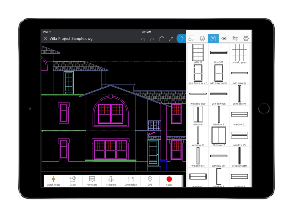 Benefits of the AutoCAD Mobile App: Tablet