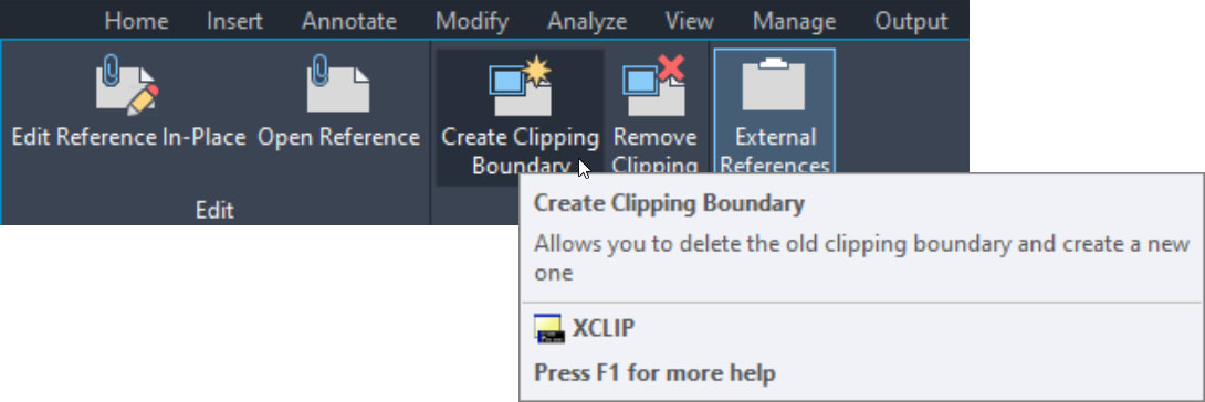 Create Clipping Boundary AutoCAD DWG