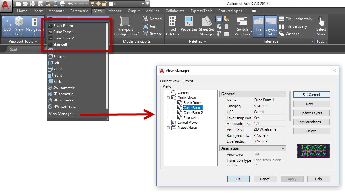 named views AutoCAD