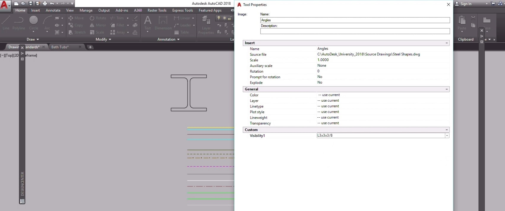 tool palettes and CAD standards