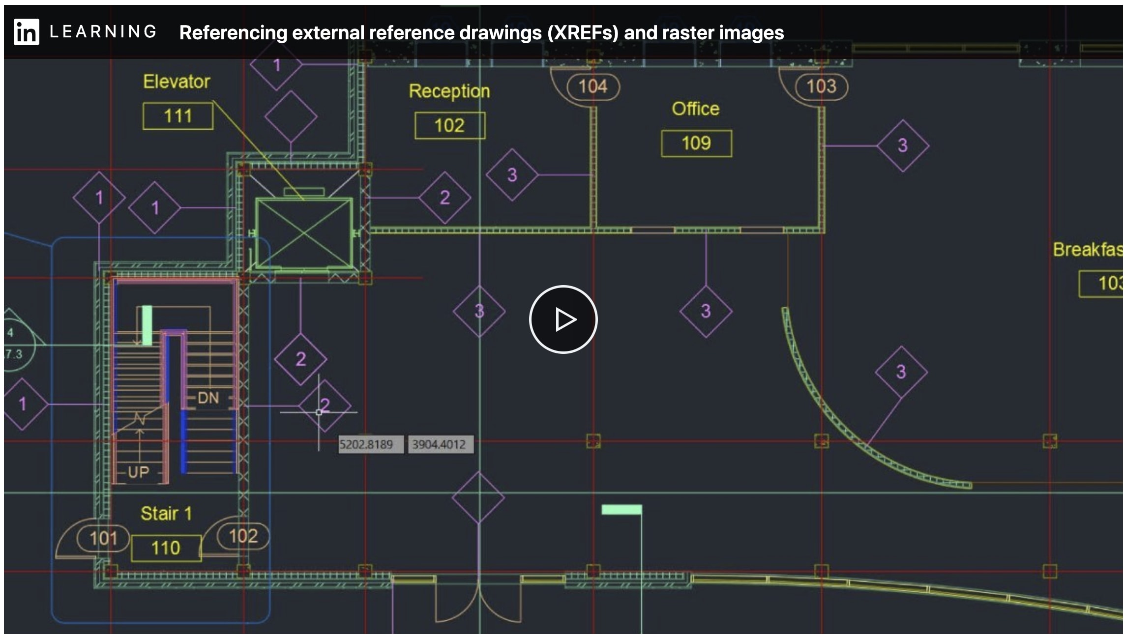 Referencing XREFs and raster images in AutoCAD