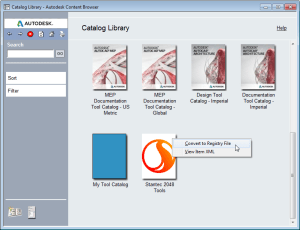 Publish AutoCAD-based product catalog data in a bootstrapped deployment.