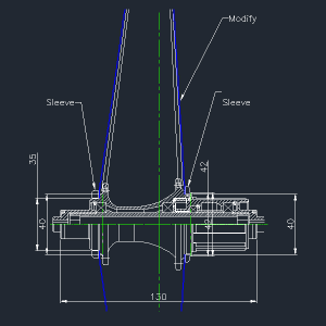 Flo Cycling's First Design in AutoCAD