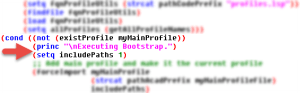 See where to place the catalog code in the bootstrap.lsp code. Bootstrap AutoCAD deployments for customizations.