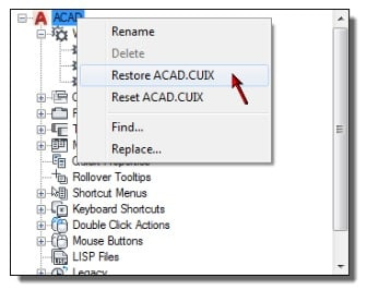 CAD Manager Tips CUI