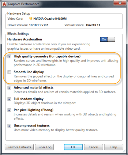 What's New in AutoCAD 2018 Technology and Performance: 2D Display and Performance