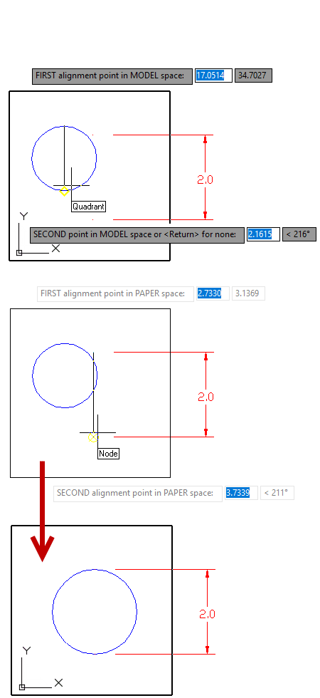 Model Space layout AutoCAD