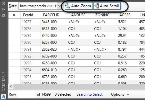 auto-scroll auto-zoom Map 3D toolset