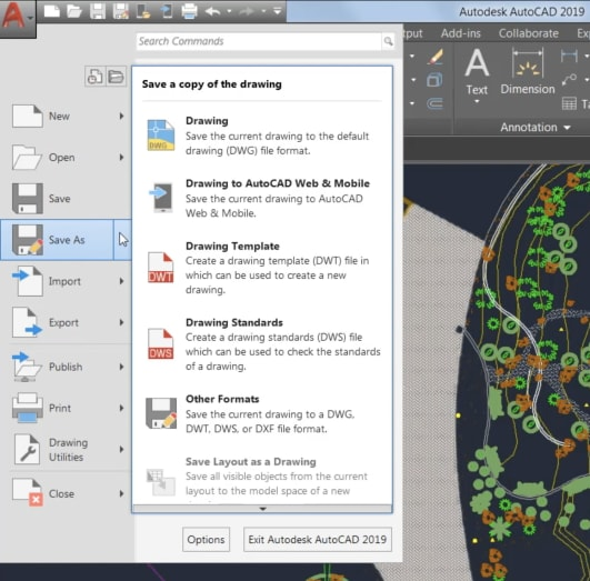 AutoCAD 2019: Save to Web and Mobile