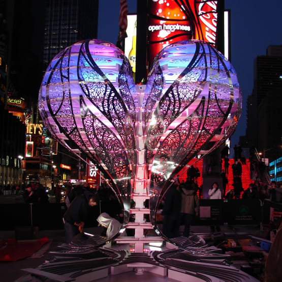 Valentine's Day Heart in Times Square