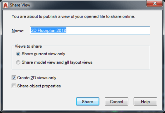 AutoCAD 2019 Shared Views: Sharing the View