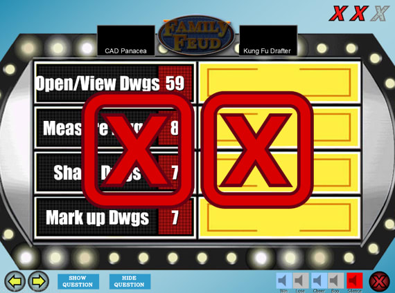 AutoCAD Family Feud Game Board