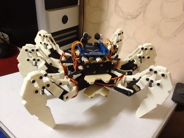 Surprising Things Designed in AutoCAD: Hexapod Robot