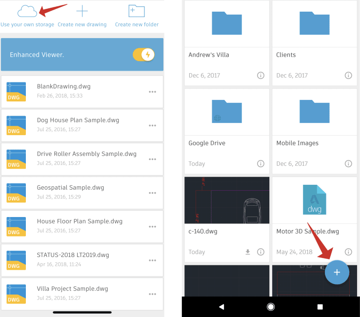 Add External Storage to Your AutoCAD Mobile App