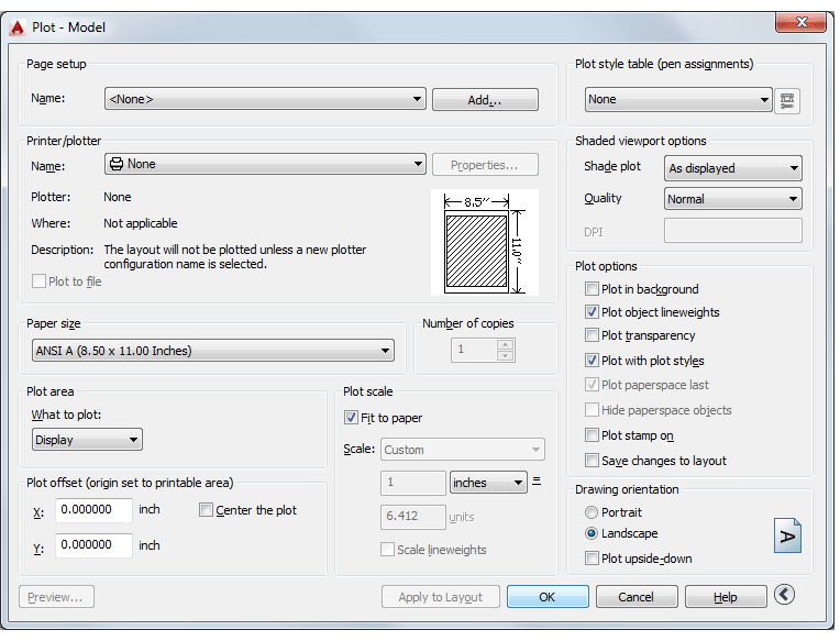 AutoCAD plot dialog. Hitchhiker's Guide to Basics of ... AutoCAD printing.