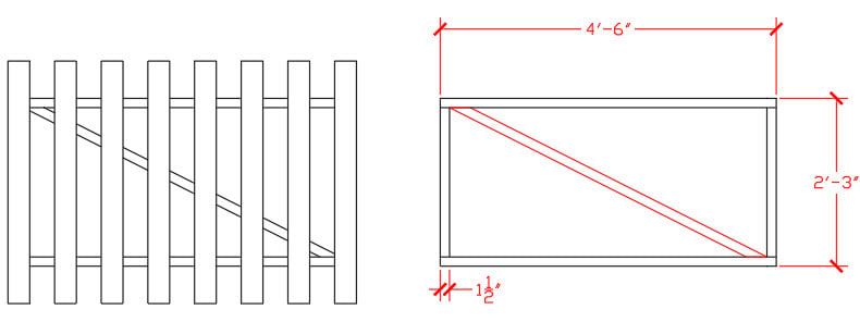 AutoCAD gate design. Real-life drawing tips, Part 1.