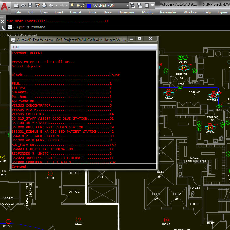 AutoCAD BCOUNT command. AutoCAD LT vs. AutoCAD for counting blocks.