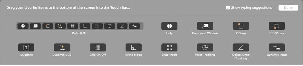 AutoCAD 2017 for Mac Update: Touch Bar Support
