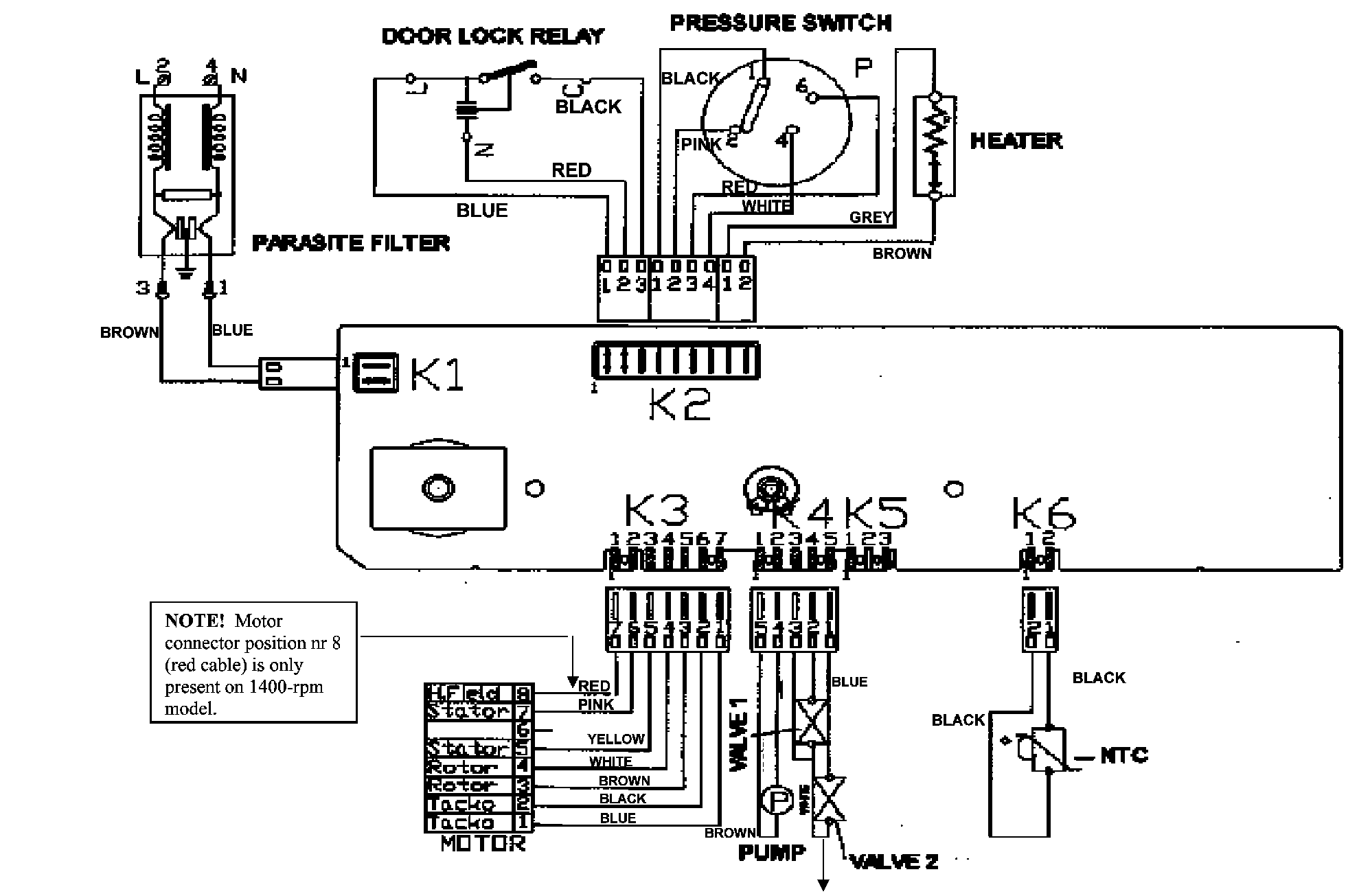 Matsui Mwm1400n Washing Machine Parts Partmaster Door Interlock Wiring Diagram