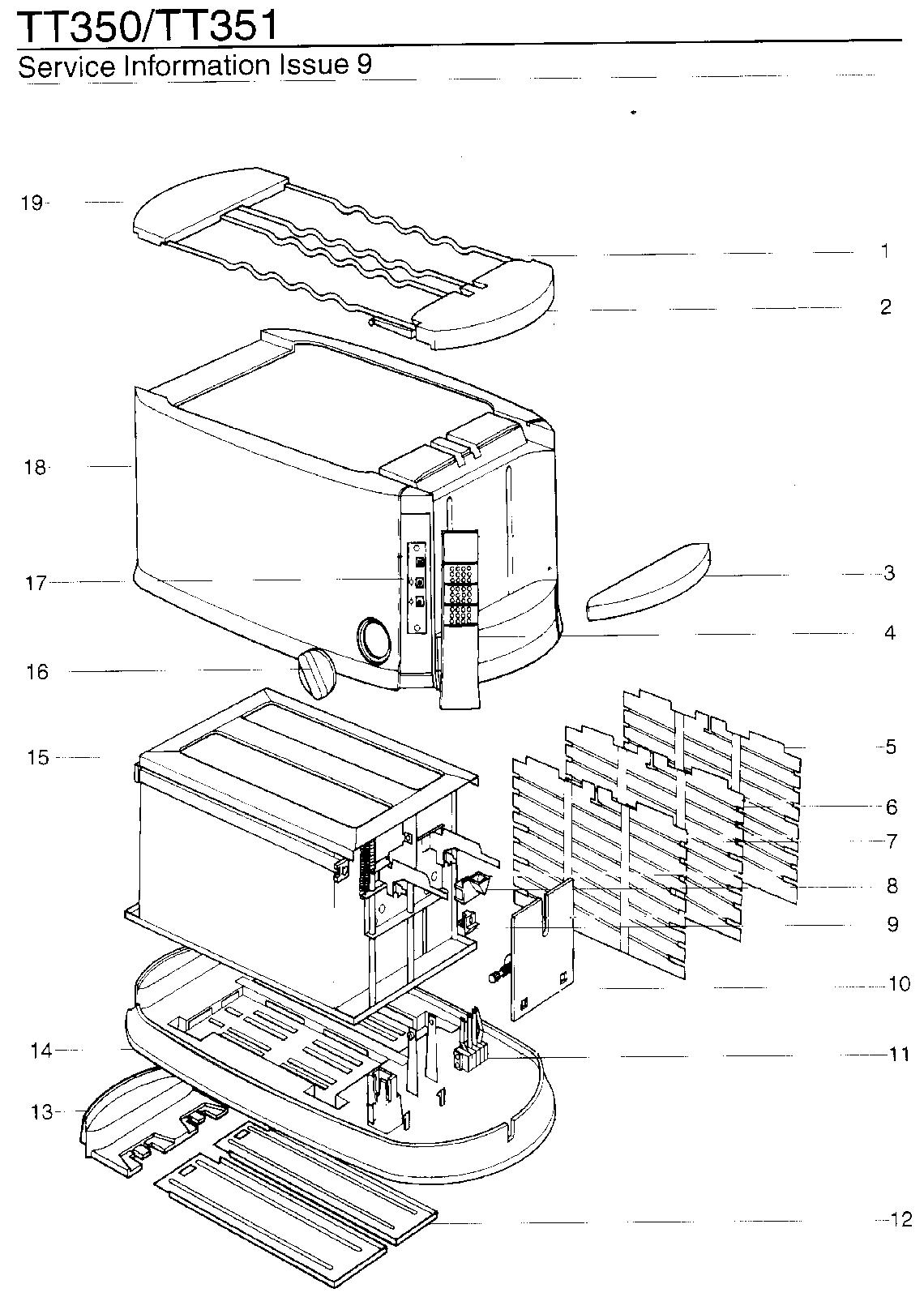 Kenwood Tt351 Toaster Spares Buyspares Wiring Diagram For