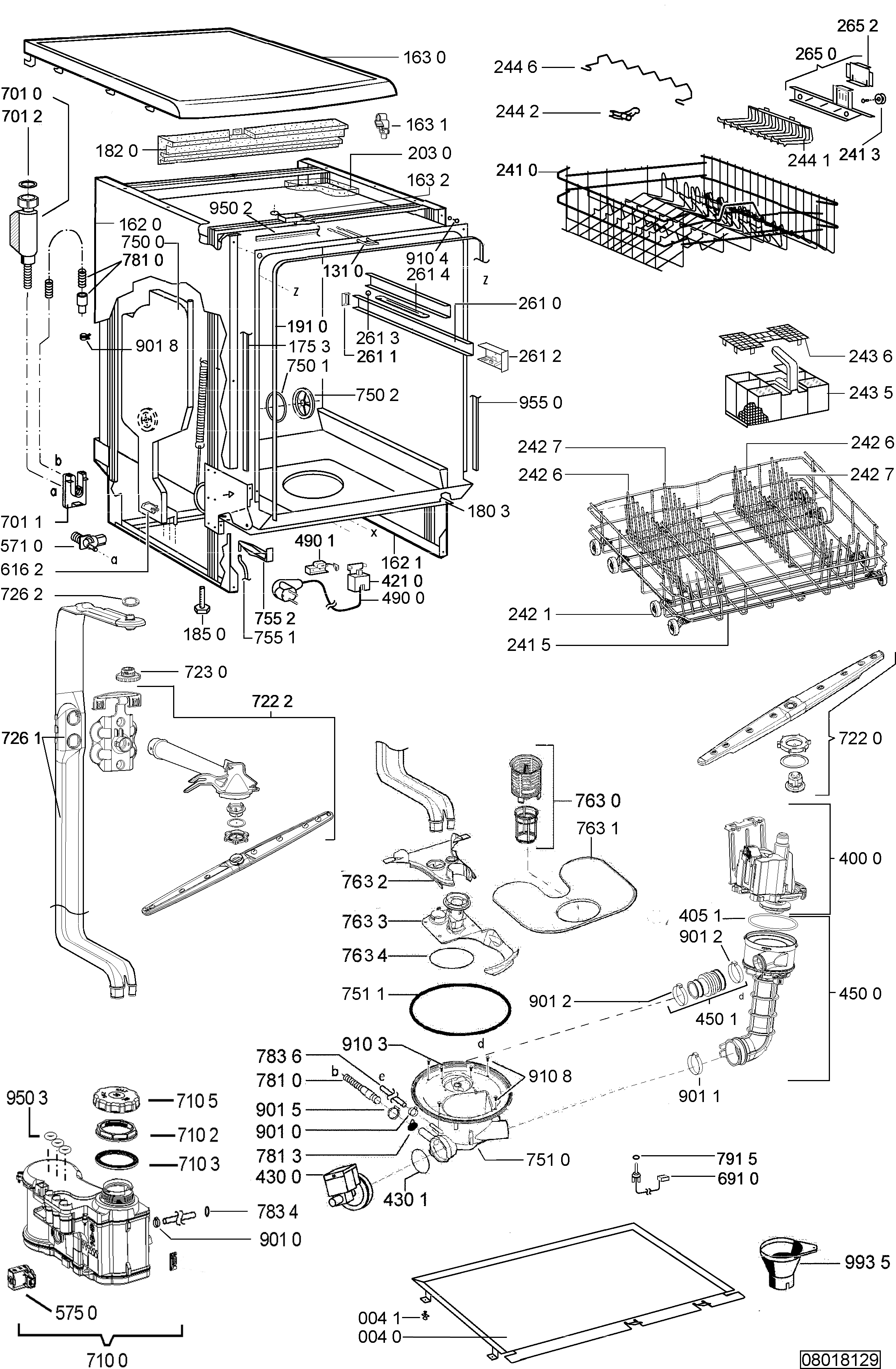 Vaak Parts, ADP 4109/1 WH Dishwasher Spares | 4whirlpool.ie DL54