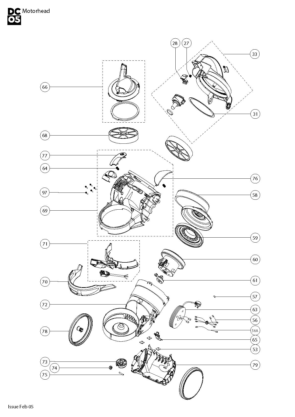 Dyson Dc05 Motorhead Vacuum Cleaner Parts Nintendo Dsi Wiring Diagram