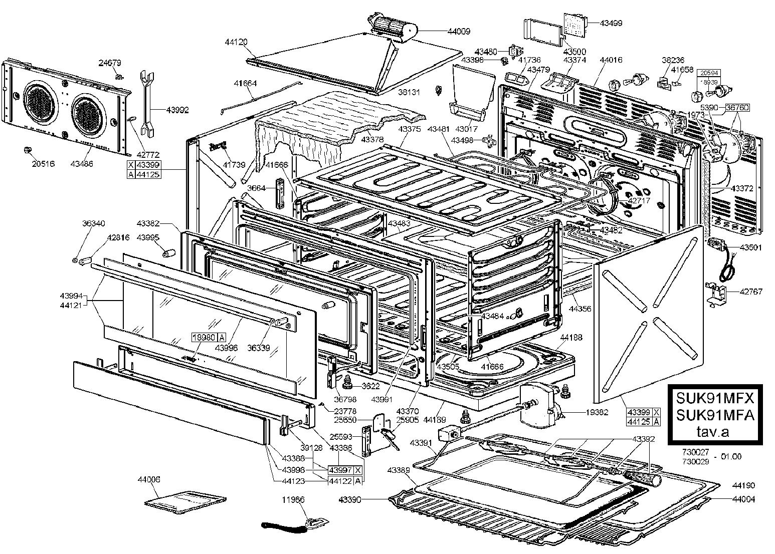 smeg suk91mfx cooker oven parts partmaster rh partmaster co uk GE Oven Wiring Diagram 240V Oven Wiring Diagram
