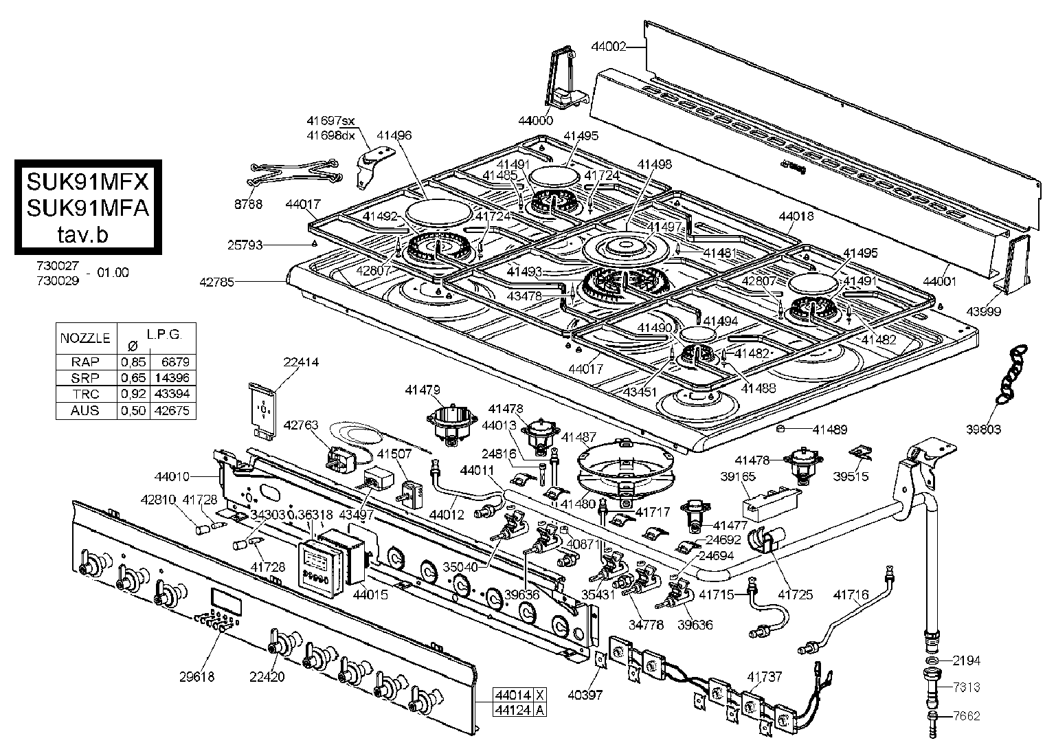 Smeg Suk91mfx Cooker Oven Parts Partmaster Wiring Diagram