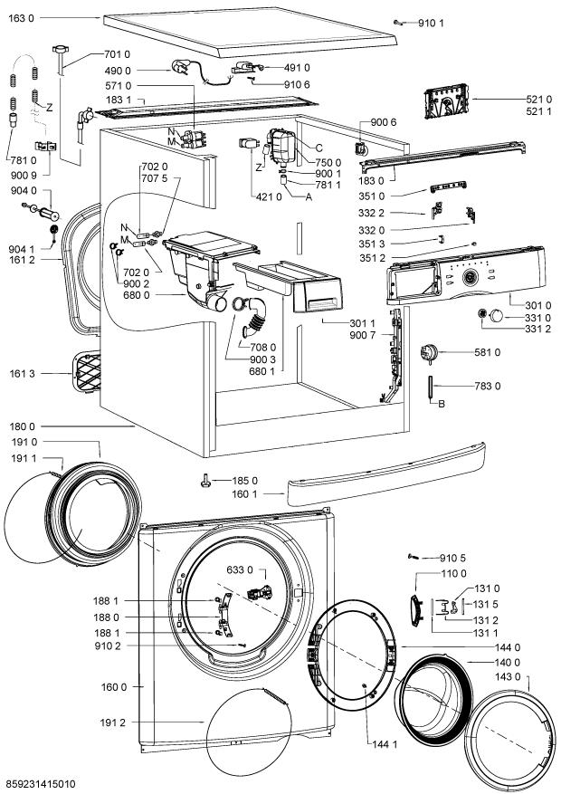 Parts Wwdc 6400 Washing Machine Spares
