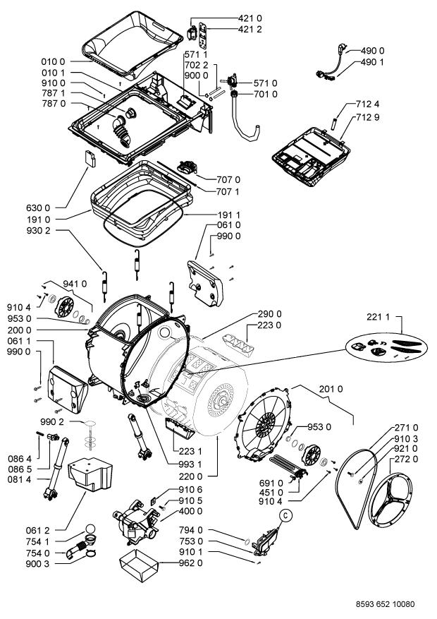 Parts Awe 65161 Washing Machine Spares