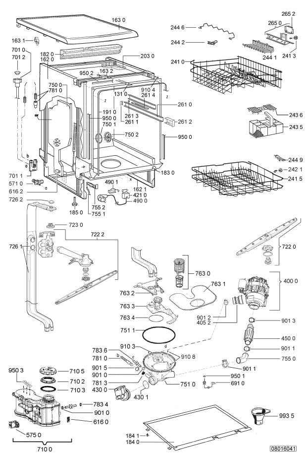 pi ces d tach es whirlpool lave vaisselle adp 5777. Black Bedroom Furniture Sets. Home Design Ideas