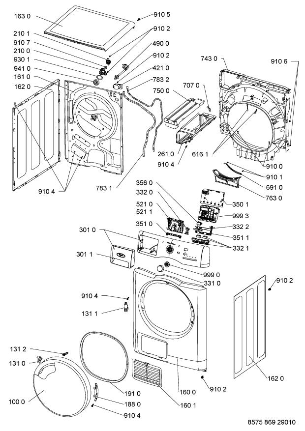 Parts Azb 8680 Tumble Dryer Spares