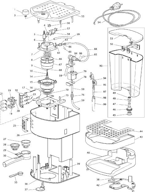 delonghi spare parts coffee machine