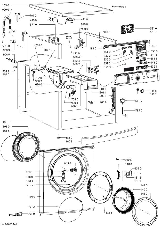 Parts Awoc 7121 Washing Machine Spares