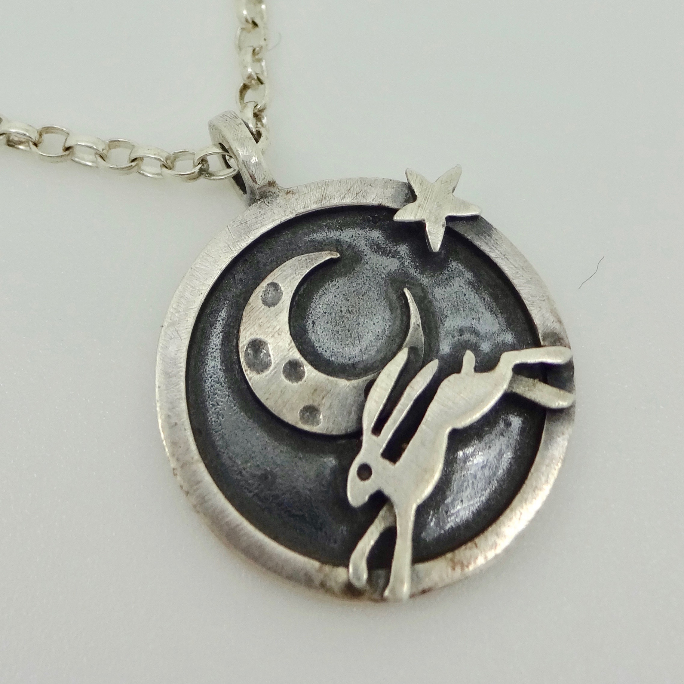 leaping hare pendant