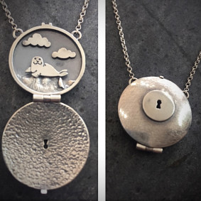 lazy seal locket