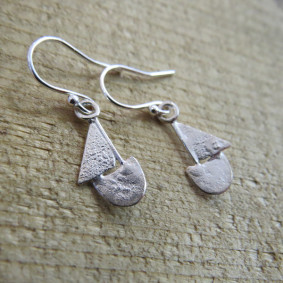 Boat drop earrings.