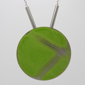 Large green buoy necklace