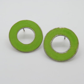 green cut out studs