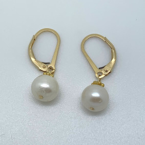 fresh water clasp drop earring