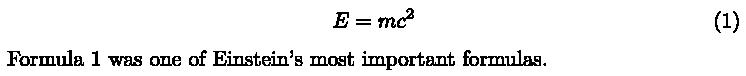 LatexMathEquation