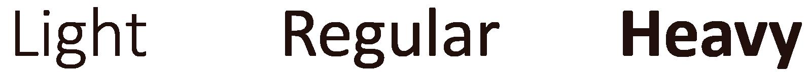 TypographyStylesLightHeavy