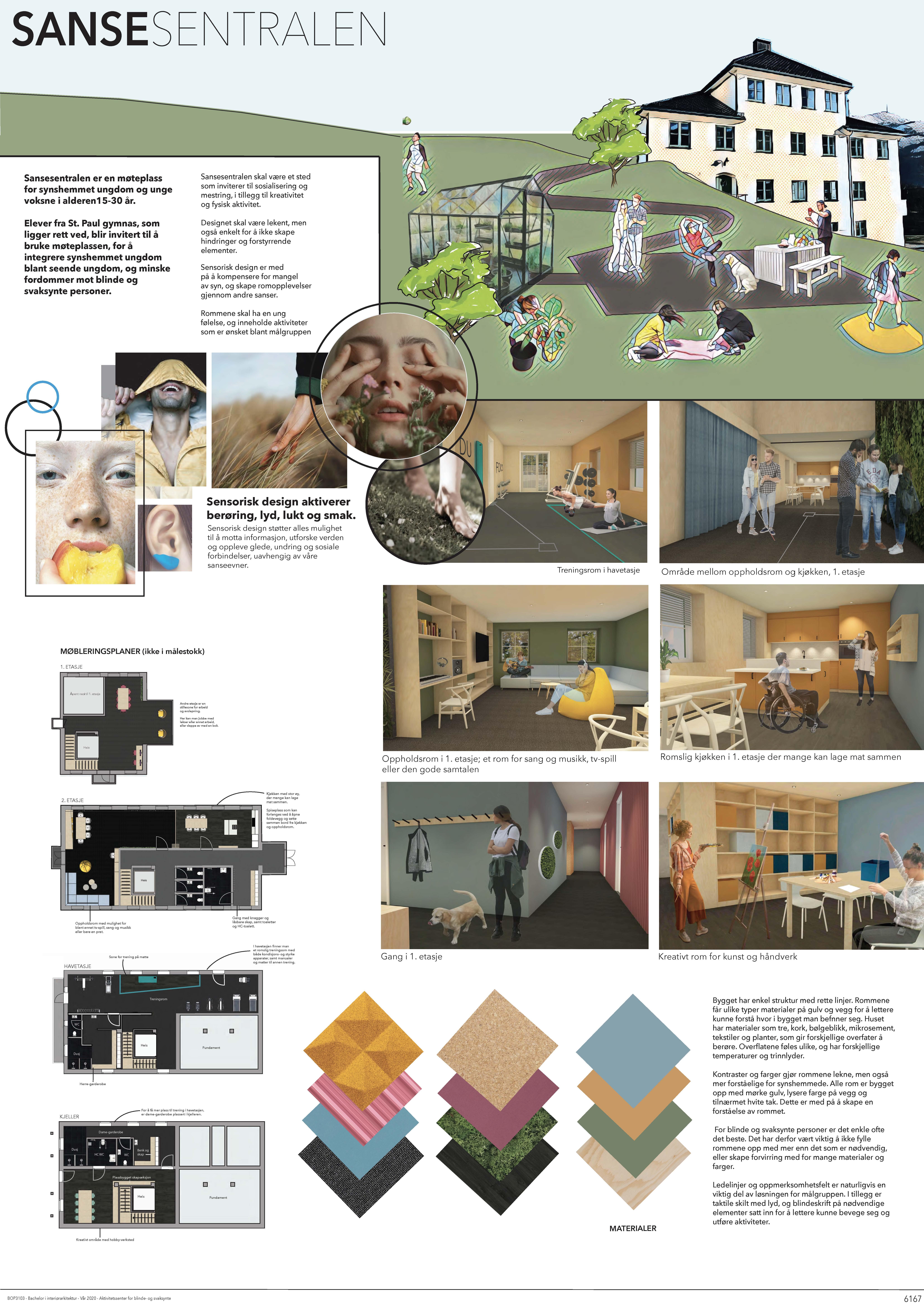 Westerdals Institutt for Kommunikasjon og Design - Sansesentralen: Møteplass for synshemmet ungdom