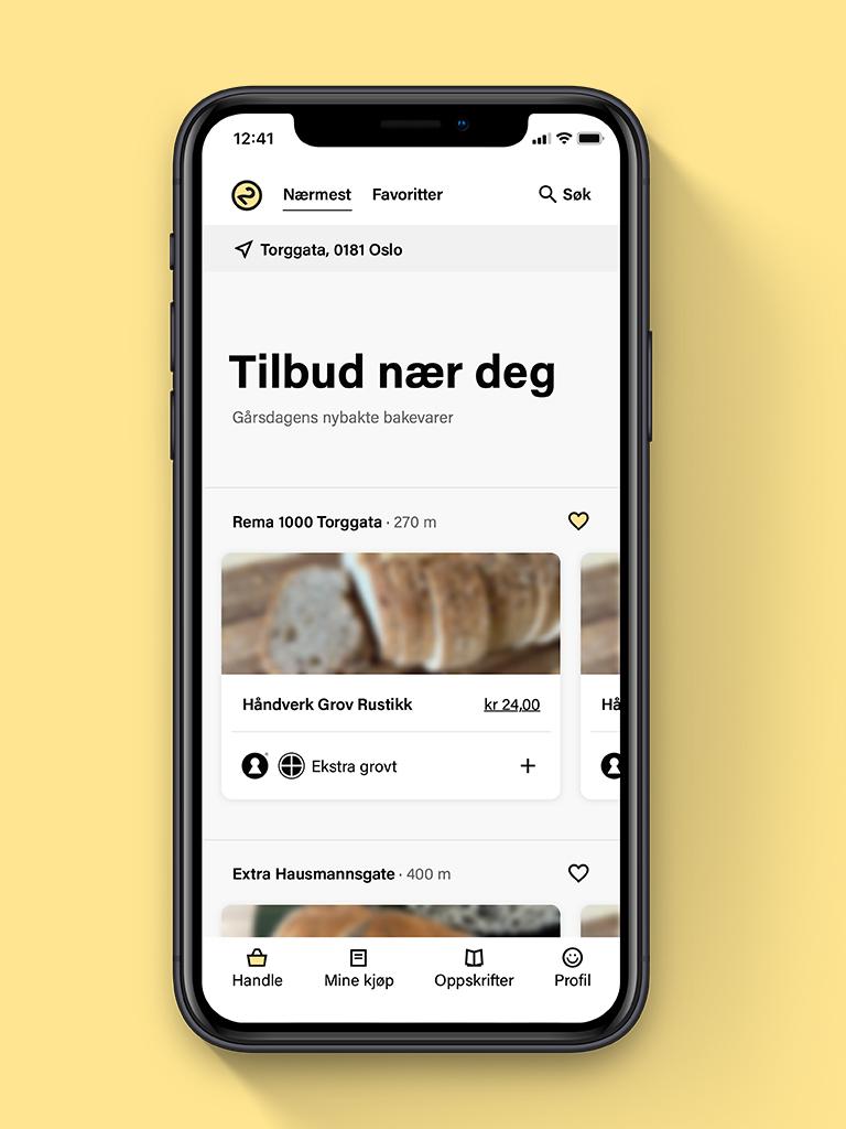 Westerdals Institutt for Kommunikasjon og Design - DAG 2 — En digital tjeneste for å redusere svinn av ferske brød og bakevarer