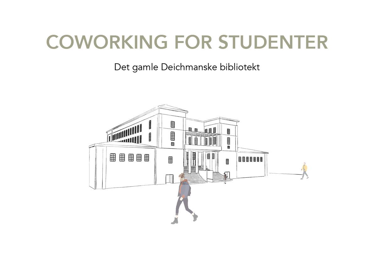 Westerdals institutt for kreativitet, fortelling og design - Det gamle Deichmanske bibliotek - Coworking for studenter