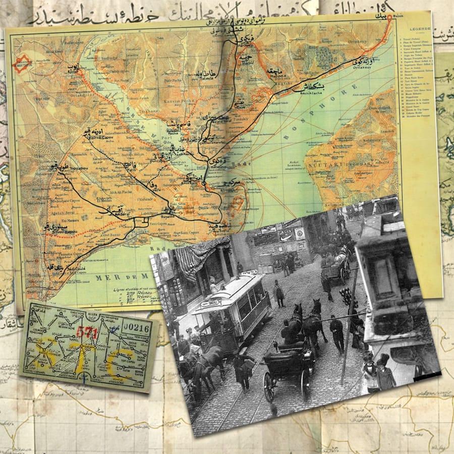 Osmanlı Dönemi Tramvay ve Ticari Gemi Ulaşım Hatları