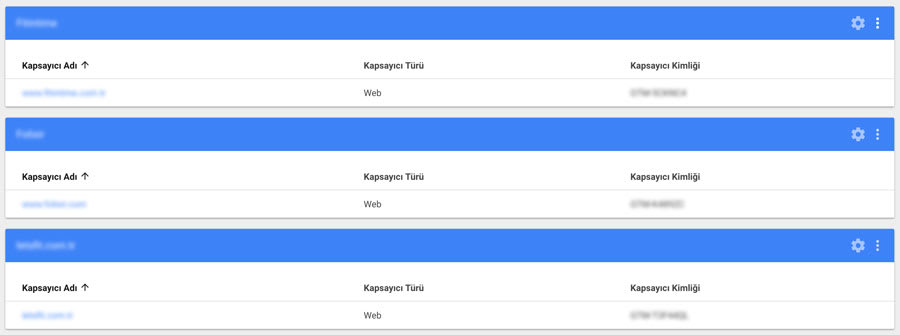 Google tag manager hesap