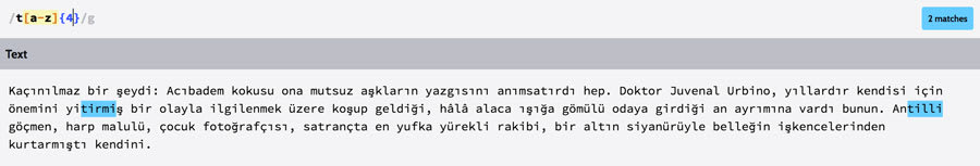 Regex ornegi